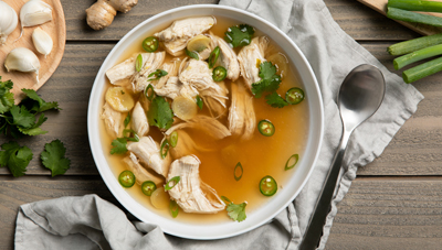 Slow Cooker Caramelized Ginger Chicken Soup
