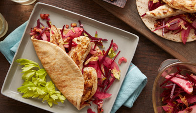Chicken Apple Beet Pita