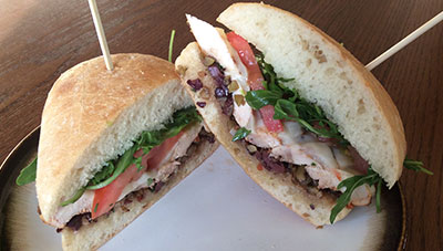 Chicken Muffuletta Sandwich