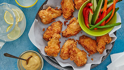 Fried Chicken Wings with Honey Mustard