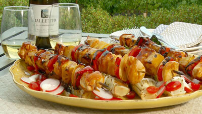 Grilled Chicken Kabobs with Ono Sauce