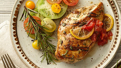 Grilled Rosemary Chicken with Heirloom Tomato Jam