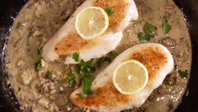 One-Skillet Ginger Lemon Chicken with Mushrooms