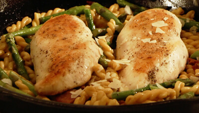 Chicken, Bacon and Asparagus Pasta