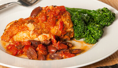 Chicken Provencal with Broccoli Rabe