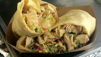 Thai Chicken Wrap with Broccoli Slaw