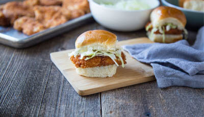 Chicken Katsu Sliders with Pineapple Sweet & Sour Sauce